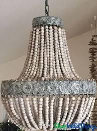 Tutorial On Diy Beaded Chandelier Best 25 Wooden Beaded Chandelier Ideas On Pinterest Bead