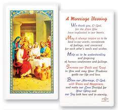 catholic wedding blessing marriage blessing laminated prayer cards 25 pack
