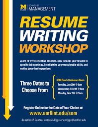 Resume Writing Course Online by Events University Of Michigan Flint