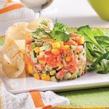 cuisine saumon tartare de saumon mangue et avocat recettes cuisine et nutrition