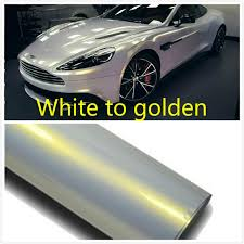 30cmx152cm cars change color chameleon white to golden