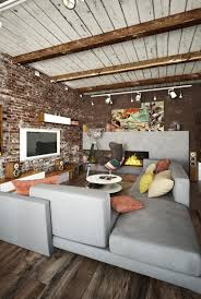Exposed Brick Wall by Small Industrial Apartment With Exposed Brick Walls Digsdigs