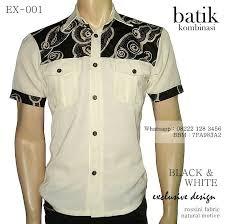 desain baju batik pria 2014 kemeja batik kombinasi seragam batik elegan grosir batik