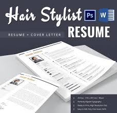 free hair stylist resume templates hair stylist resume template 9