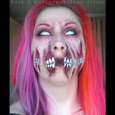 quick halloween makeup torn mouth face paint youtube