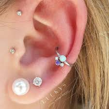 earring pierced the 25 best conch piercings ideas on ear piercings