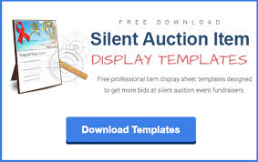 silent auction flyer template writing item descriptions for a
