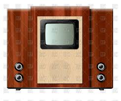 tv in wooden box vintage tv set vector clipart image 67208