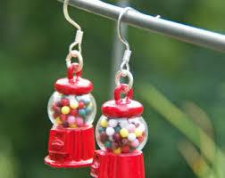 food earrings miniture food earrings earrings gum machine