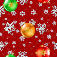 green christmas background with snowflakes and balls vector
