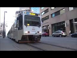 denver light rail hours denver light rail street running at rush hour youtube