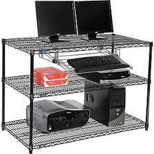 Wire Computer Desk Computer Furniture Lan Stations Nexel U0026 153 3 Shelf Wire