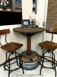 bar height table industrial bar table designs purplebirdblog com