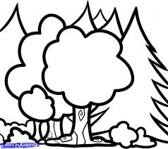 sketch drawing for kids how to draw trees for kids step step trees