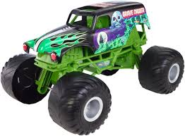 monster truck race track toys wheels monster jam 1 10 scale diecast vehicle giant grave