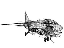 3d wire frame sketch of f 18 hornet stock photo picture and
