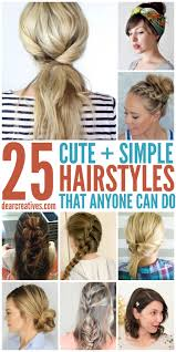 hairstyles simple hairstyles for long hair that anyone can do