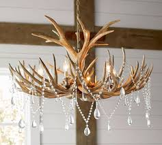 Antler Chandelier Net Faux Antler Chandelier Pottery Barn Lighting Pinterest
