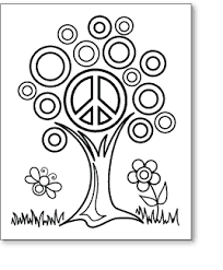peace and love coloring pages pdf of the tree peace sign