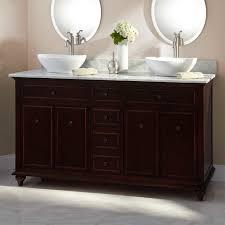 unusual white corner bathroom vanity and square towel rack idea