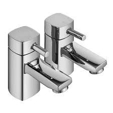 enki modern bath filler tap shower head hot cold twin basin enki modern bath filler tap shower head hot cold twin basin tap pack desire
