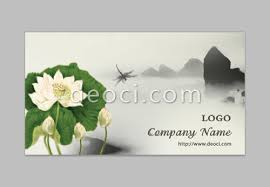 Business Card Design Psd File Free Download Ink Style 2 Lotus Dragonfly Business Card Design Template Psd File