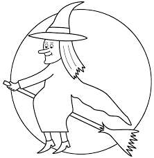 flying witch halloween halloween coloring pages witch on broom coloring pages