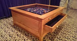 coffee tables enchanting glass top shadow box coffee table