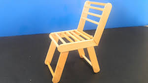 How To Make A Popsicle Stick Chair Diy Crafts For Kids And