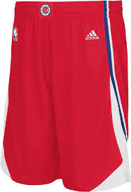 nba jerseys shorts los angeles clippers red color shorts jerseys