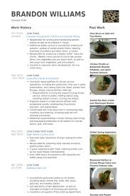 Prep Cook Duties For Resume Line Cook Resume Samples Visualcv Resume Samples Database