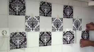 Kitchen Backsplash Decals by How To Apply Tile Decals With Damask Wall Tiles Stickers Youtube