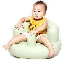High Sitting Chair Kids Inflatable Feeding Chair Baby Sitting Bean Bag Sofa Seat