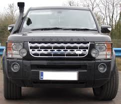 lifted land rover lr3 black chrome chrome disco 4 facelift style front grille land rover