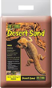 exo terra desert sand terrarium reptile substrate red 10 lb bag