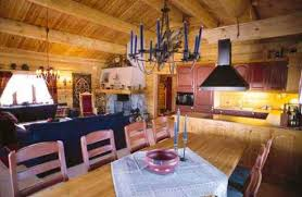 interiors of wooden houses