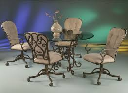 Leather Swivel Dining Room Chairs Leather Dining Room Chairs With Casters Createfullcircle Com