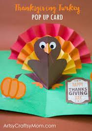diy thanksgiving turkey pop up card accordion fold turkey craft