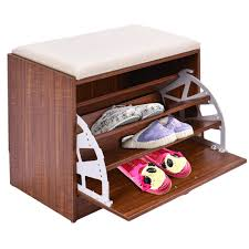 Ottoman With Shelf by Shoe Cabinet Closet Organizer Ottoman Shoe Racks U0026 Organizers