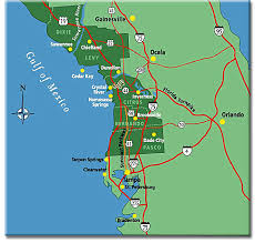 map of west coast of florida map of the west gulf coast area of florida