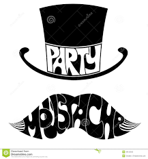 mustache party party mustache and hat with text royalty free stock photo image