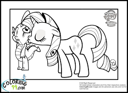 free printables pony friendship magic coloring pages