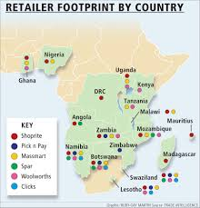 Zambia Africa Map by Strong Operations In West Africa Lift Shoprite Results