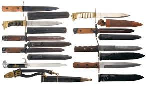 lot of nine italian daggers bayonets and knives other firearms