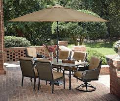 7 piece high top patio dining set home outdoor decoration