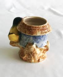 occupied japan ceramic toothpick holder vintage bird ceramic
