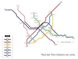 lima map urbanrail south america peru lima metro
