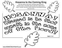 hosanna to the coming king u201d sunday lesson mark 11 1 11