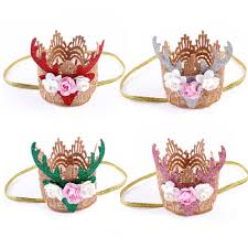 christmas hair accessories aliexpress buy handmade kids mini felt glitter gold