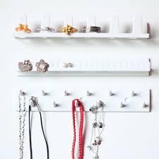 necklace storage display images Jewelry necklace earring organizer wall hanging display stand rack jpg